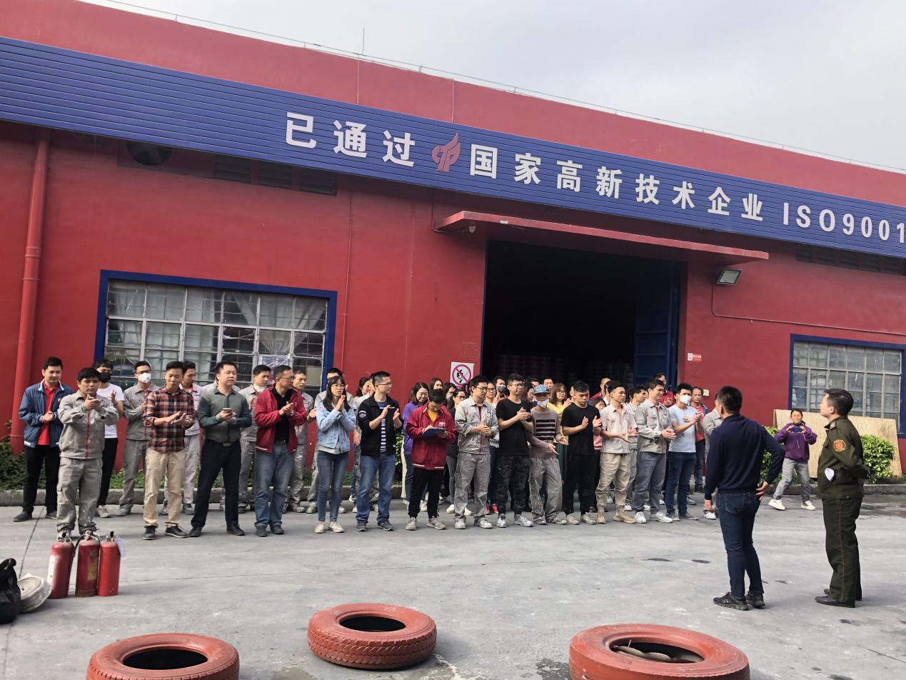 广州昊特建材有限公司年前消防演练,提高遇险应对能力